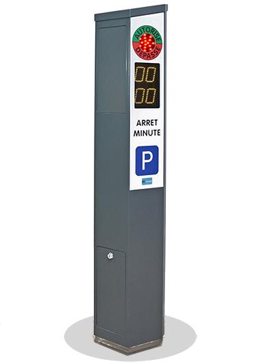 Borne arrêt minute pour gestion parking