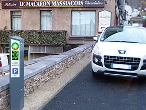 Borne arrêt minute Massiac M-Innov