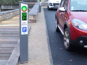 Borne parking proximité M-Innov