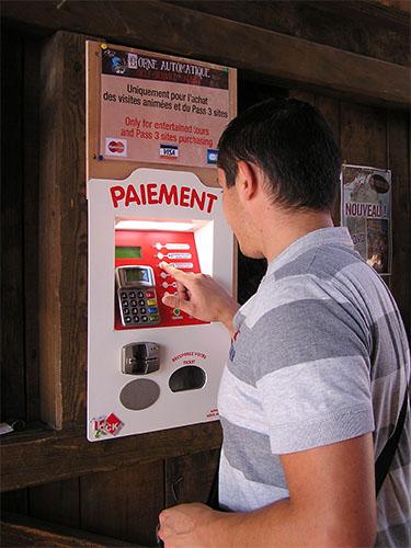 Borne paiement ticket château